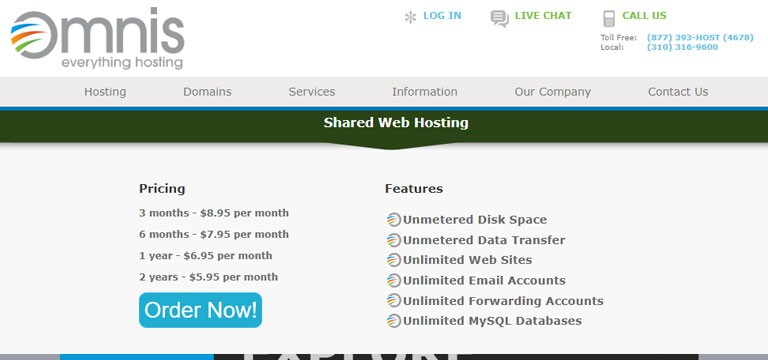 Omnis Network Hosting Features