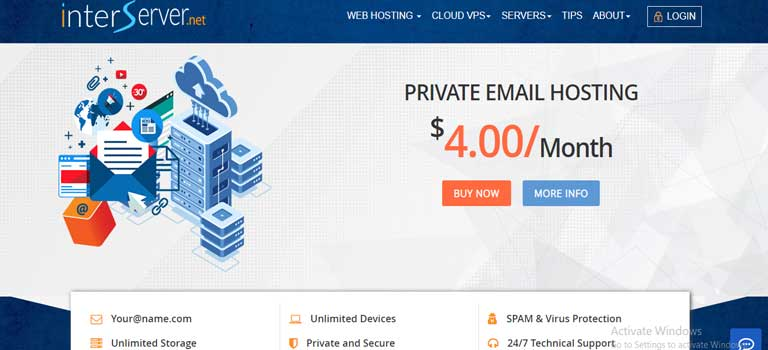 InterServer Private Email hosting