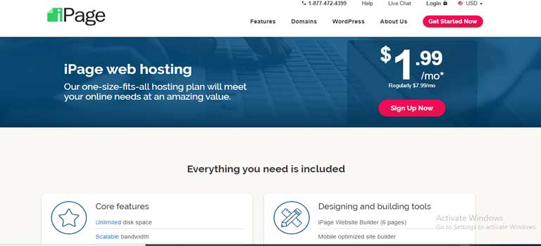 iPage Hosting Packages